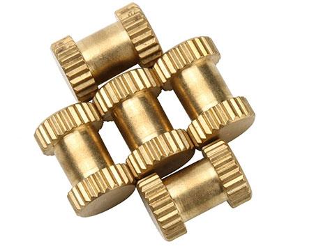 非标滚花铜螺母
