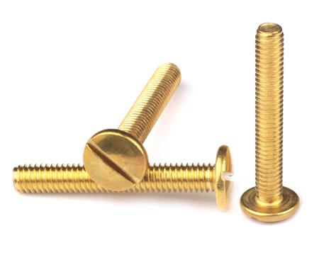 黄铜一字螺丝定制